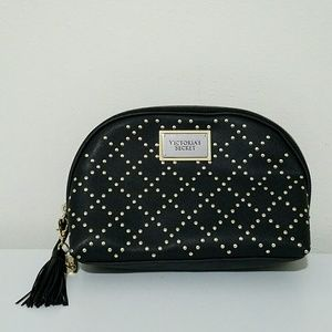 Victoria's Secret Bags - VICTORIA'S SECRET Black and Gold Studded Makeup Ba